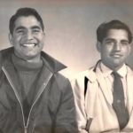 Gurcharan and Gurdev Singh after immigrating to Canada together - 1959