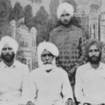 Jagir, Chanan, Gurnam (front), Resham Singh (back) prior to immigration to Canada